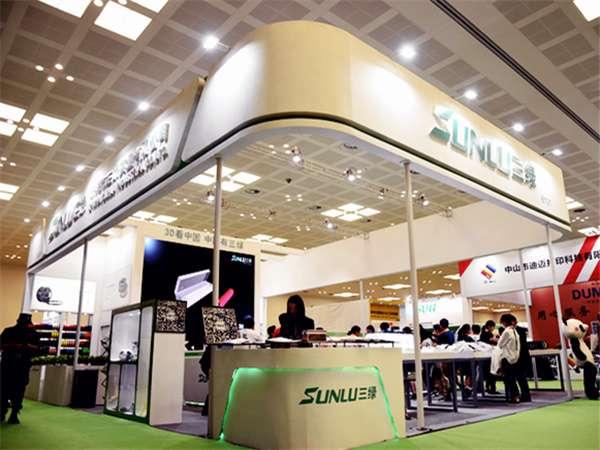 三绿耗材展大型特装展位设计搭建